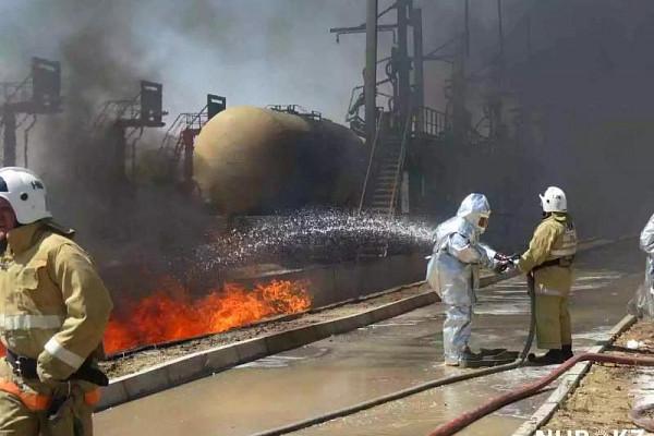 Нанефтебазе вЖамбылской области произошел пожар